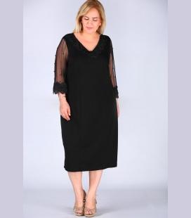 زنانه İşleme مشکی لباس ELB000