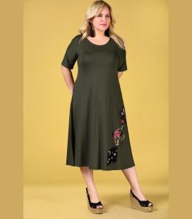 زنانه خاکی رنگ خاکی رنگ لباس ELB0000