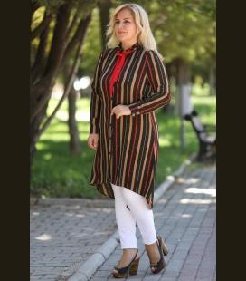 زنانه Bk Be چاک دارlı طرحدار پیراهن