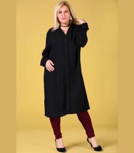 زنانه Yanlar Yırtmaç Detay مشکی پیراهن لباس TNK0