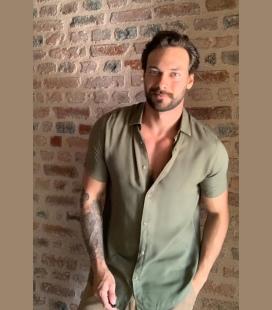 خاکی رنگ مردانه پیراهن پیراهن TMN0GO0