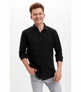 مردانه مشکی ساده جذب پیراهن R0AZ0SPBK