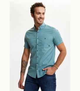 مردانه سبز تک جیب دار جذب پیراهن N0AZ0SMGN