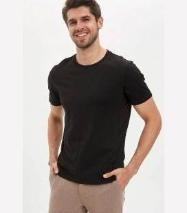 مردانه مشکی ساده تیشرت MAZ0SPBK