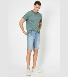 مردانه آبی جیب دار جین شلوارک 0YAMLD