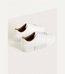 مردانه سفید Kabartmalı چرم طرحدار ورزشی کفش 0