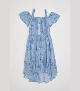دخترانه بچه گانه چین دار دکمه دار لباس