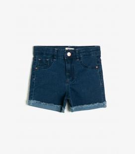 آبی جیب دار جین شلوارک