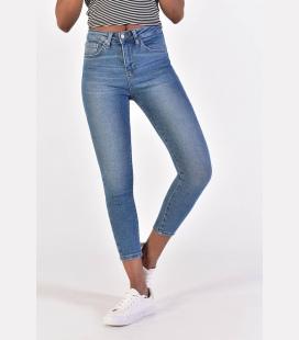 زنانه K رنگ کمر جین شلوار